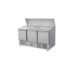 Mesas refrigeradas para preparacion de ensaladas, ingredientes, pizzas etc MF-90-T (900x700x850 mm)