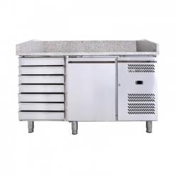 Mesas frías para preparación de pizzas con expositor de ingredientes 800 PZ-2600-TN (1510x800x1000 mm)