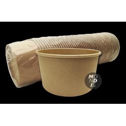 Envase de cartón kraft 1000 cc (15 cm) Caja de 6 paquetes de 50 unidades