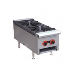 Cocina a gas  2 fuegos sobremesa 300x750x400 C2F