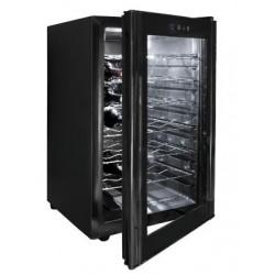 Vinoteca sobremesa negra (280x515x470 mm)