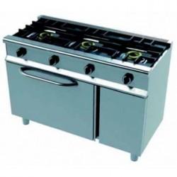 Cocina industrial con horno serie 550 snack CMH-80 (800x550x850 mm)