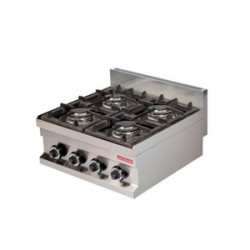 Fry-top sobremesa a gas serie 600 GG-604 (400x600x265 mm)