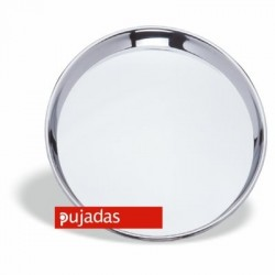 Bandeja camarero en acero inox 30 diámetro