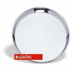 Bandeja camarero en acero inox 40 diámetro