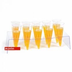 Peana presentación 10 conos champán