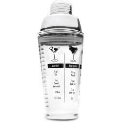 COCTELERA ACRÍLICA CON TAPÓN INOX (0.45 L)