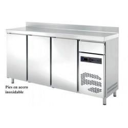 frente mostrador refrigerado con cajón 4 puertas 2542x600x1050