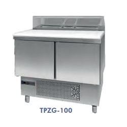 mesa de  preparación compacta 3 puertas 906x700x1010
