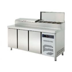 mesa preparación refrigerada 2 puertas 1492x800x1050