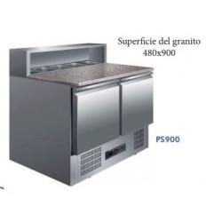 mesa de preparación 2 puertas 900x700x850