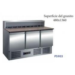 mesa de preparación 3 puertas 1360x700x850