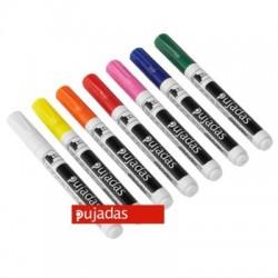 Marcadores tiza fluorescentes, grueso 2-6 mm