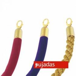 Cordón con ganchos dorados