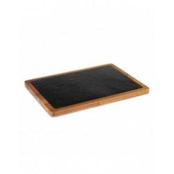 Tabla pizarra y acacia 330 x 230 mm