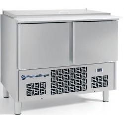 Mesas refigeradas para la preparación de ensaladas 928x700x915mm .FME1002B