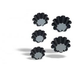 Molde madalenas con 10 costados Ø 8 cm