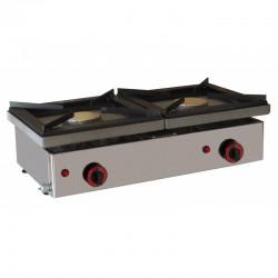 Cocina gas sobremostrador 2 fuegoS  (POSIBILIDAD DE CONVERTIR LOS FOGONES EN PLANCHAS COLOCADA SOBRE LOS FOGONES)