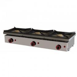 Cocina Sobre Mostrador 3 Fuegos a Gas de 1210x457x210/240 mm Maiser