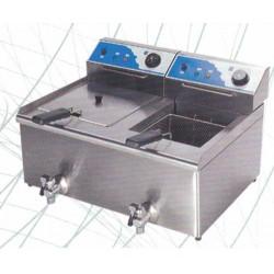 Freidora  13L+13L ELECTRICA,  ECO,650X615X439 FE-13+13