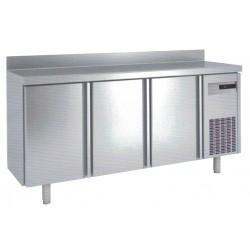 Frente mostrador acero inox 2450x600x1050, 4 puertas,FM-250