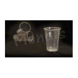 Vaso de plástico transparente irrompible 220 cc