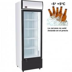 Armario refrigerador SUBCERO (-5º - +5ºC) ESPECIAL CERVEZA de 360 litros con 1 puerta de cristal