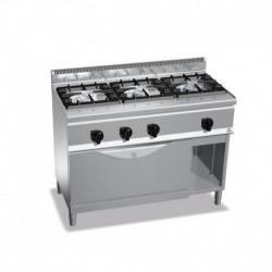 Cocina de 3 fuegos a gas + horno maxi 1 - 7(Kw) . 2 - 12(Kw) 1200x600x900 mm Bertos