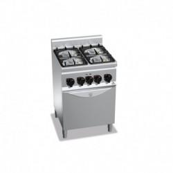 Cocina de 4 fuegos a gas + horno eléctrico