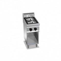 Cocina de 2 fuegos a gas con mueble 1 - 3.5(Kw) . 1 - 7(Kw) Bertos