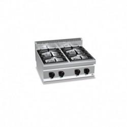 Cocina de 4 fuegos a gas 2 - 3.5(Kw) . 2 - 7(Kw) 800x700x290 mm Bertos