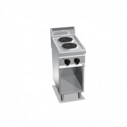 Cocina de 2 fuegos 5.2 (Kw) con pie eléctrica 400x700x900 mm Bertos