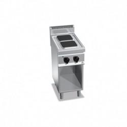 Cocina de 2 fuegos cuadrados con pie eléctrica 5.2 (Kw) 400x700x900 mm Bertos