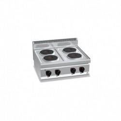 Cocina de 4 fuegos sobremesa eléctrica 10.4 (Kw) 800x700x290 mm Bertos
