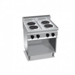 Cocina de 4 fuegos con pie eléctrica 10.4 (Kw) 800x700x900 mm Bertos