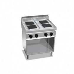 Cocina de 4 fuegos cuadrados con pie eléctrica 10.4 (Kw) 800x700x900 mm Bertos