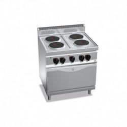Cocina de 4 fuegos eléctrica + horno eléctrico GN 1/1 13.4 (Kw) 800x700x900 mm Bertos