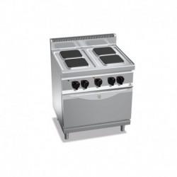 Cocina de 4 fuegos cuadrados eléctrica + horno eléctrico GN 1/1 13.4 (Kw) 800x700x900 mm Bertos