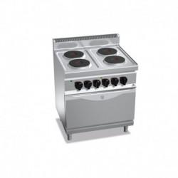 Cocina de 4 fuegos eléctrica + horno eléctrico GN 2/1 17.9 (Kw) 800x700x900 mm Bertos