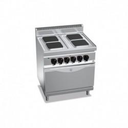 Cocina de 4 fuegos cuadrados eléctrica + horno eléctrico GN 2/1 17.9 (Kw) 800x700x900 mm Bertos