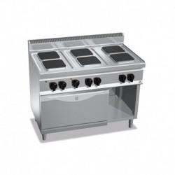 Cocina de 6 fuegos cuadrados eléctrica + horno eléctrico GN 1/1 18.6 (Kw) 1200x700x900 mm Bertos