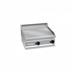 Plancha Fry-top de Acero Rayado Rectificado, Sobremesa a Gas de 800x700x290 mm Bertos
