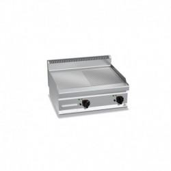 Fry-top de acero rectificado a gas semiranurada Macros 700