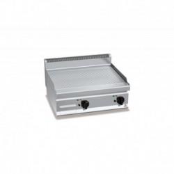 Plancha Fry-top de Acero Inox. Ranurado, Sobremesa Eléctrica 800x700x290 mm Bertos