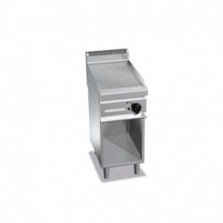 Plancha Fry-top de Acero Rectificado Ranurada con Mueble a Gas de 400x700x900 mm Bertos