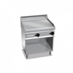 Fry-top de acero rectificado a gas con mueble Macros 700