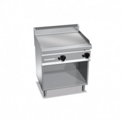 Plancha Fry-top de Acero Rectificado a Gas de 800x700x290 mm Bertos