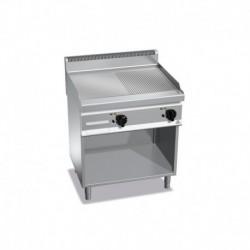 Plancha Fry-top de Acero Rectificado Mixta con Mueble a Gas de 800x700x900 mm Bertos