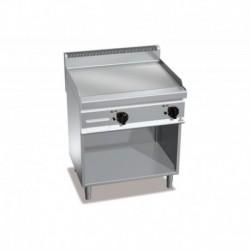 Fry-top de acero rectificado eléctrico con mueble