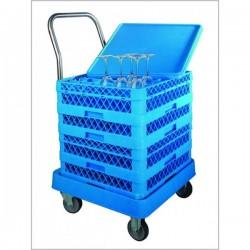 Carro porta-cestas  55x57x80 con asa,69211